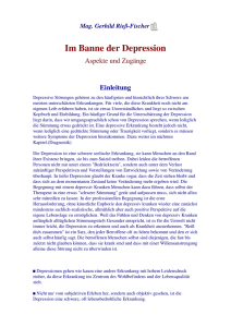 Im Banne der Depression - Integrative Gestalttherapie
