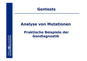 Analyse von Mutationen Gentests
