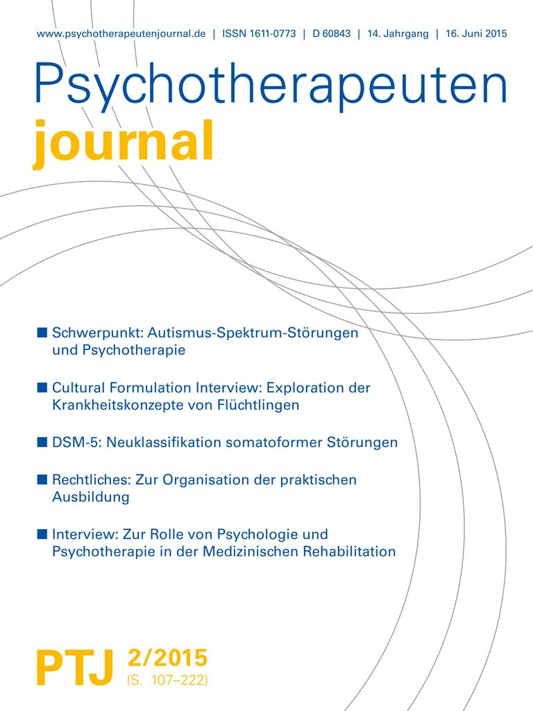 Psychotherapeutenjournal 2/2015 ()