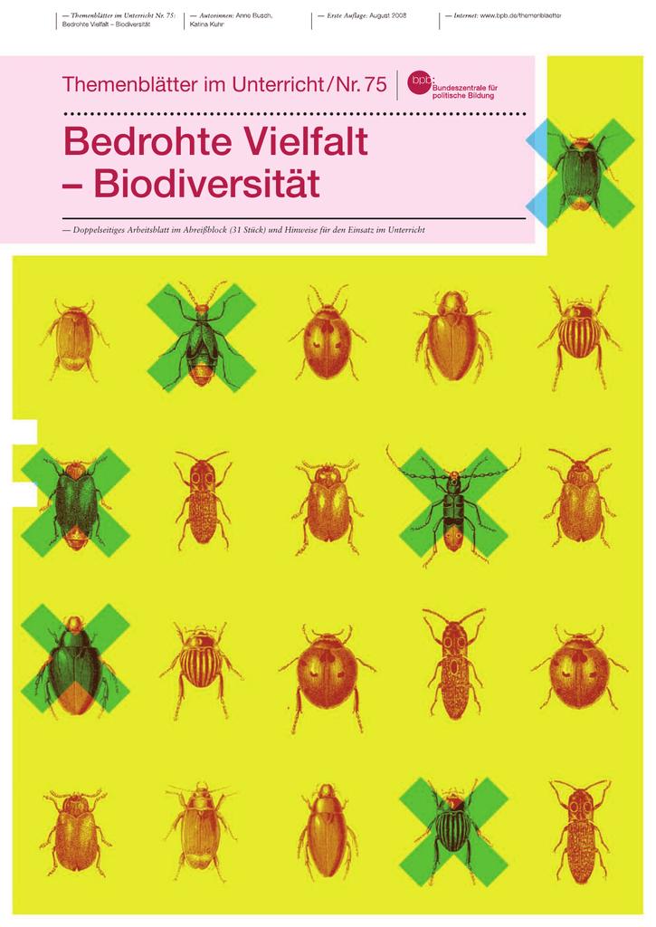 Bedrohte Vielfalt – Biodiversität - Bundeszentrale für politische ...