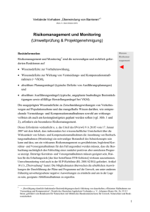 Risikomanagement und Monitoring