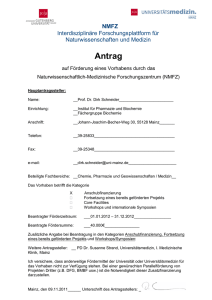 Antrag - Universitätsmedizin Mainz