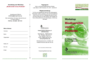 Workshop Biodiversität versus Pestizide