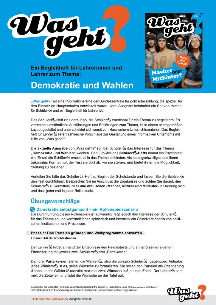 Demokratie Und Wahlen Bundeszentrale Für Politische Bildung