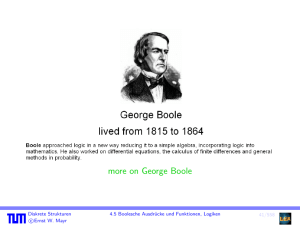 more on George Boole