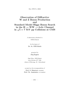 Observation of Diffractive W and Z Boson - ETH E