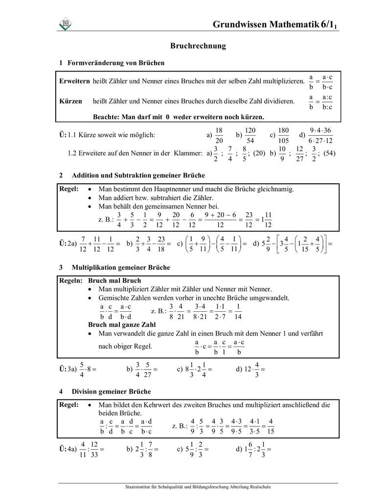 mathe 6. arbeitsblatt-vorlage bruchrechnung 1 - individuelle mathe ...