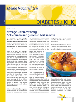 diabetes & khk - beim BKK