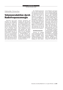 Volumenreduktion durch Radiofrequenzenergie