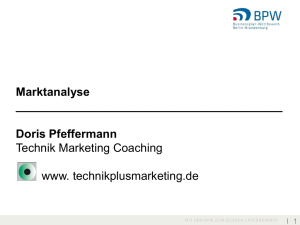Marktanalyse Doris Pfeffermann Technik Marketing Coaching