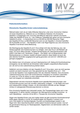 Patienteninformation: Chronische Hepatitis/virale Leberentzündung