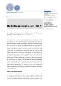 Radiofrequenzablation - UniversitätsKlinikum Heidelberg
