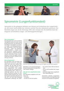 Spirometrie (Lungenfunktionstest)