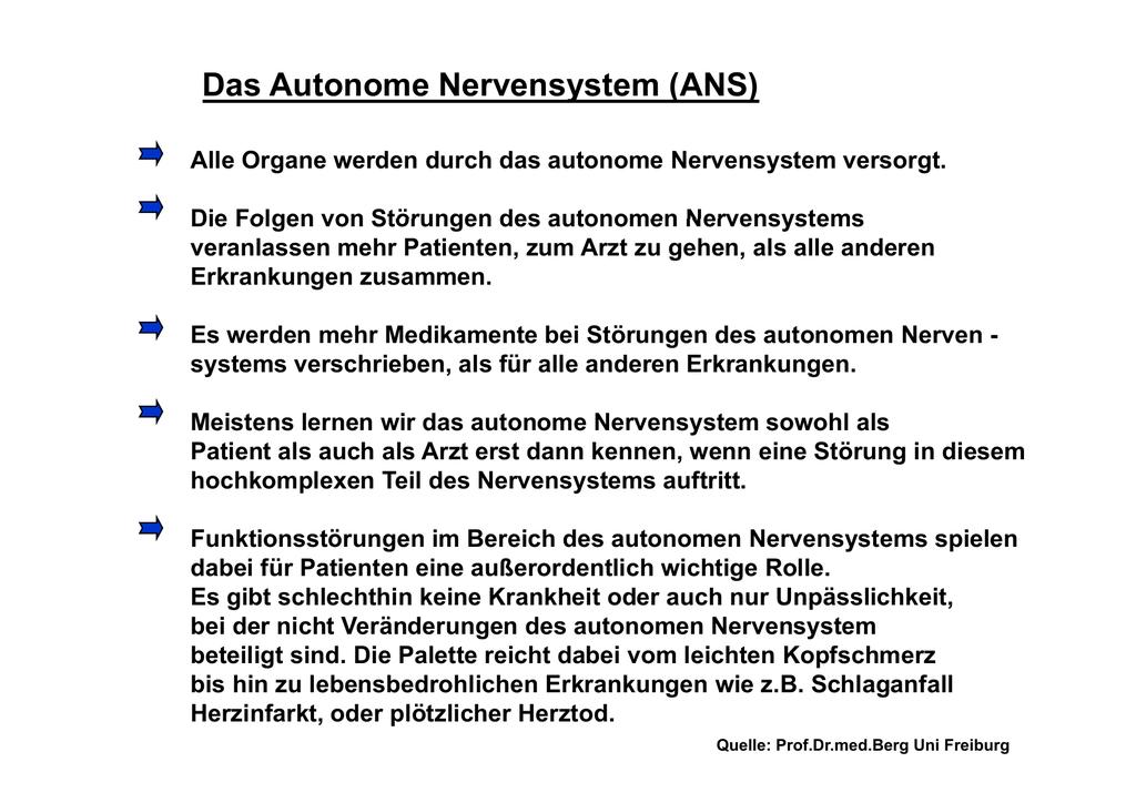 Das Autonome Nervensystem (ANS)