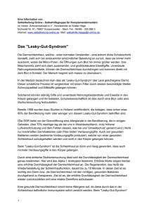 Das Leaky-Gut-Syndrom - Selbstheilung