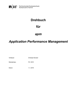 Drehbuch für apm Application Performance Management