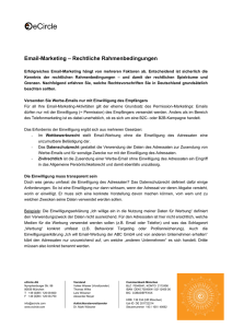 Email-Marketing – Rechtliche Rahmenbedingungen
