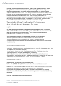 Werkstudent (m/w) - IDS GmbH - Analysis and Reporting Services