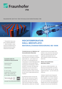 Hochtemperatur-Hall-Messplatz