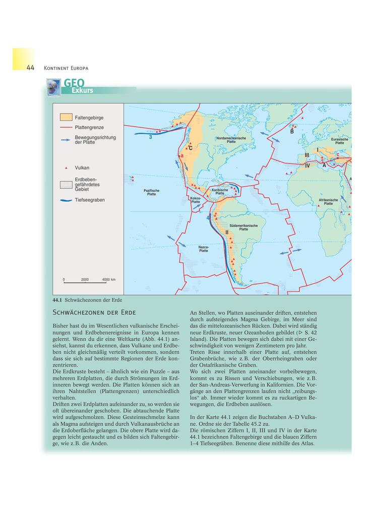 Vulkane Philippinen Karte.Schwächezonen Der Erde Schulbuchzentrum Online