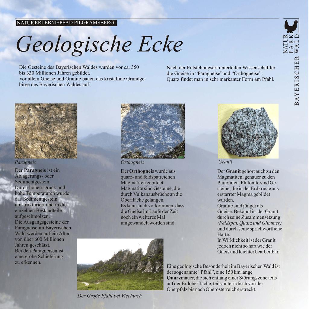 Granit Bestandteile naturerlebnispfad pilgramsber