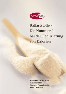 Ballaststoffe - Herbafood Ingredients GmbH