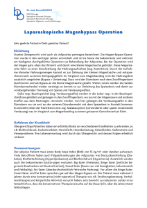 Laparoskopische Magenbypass Operation