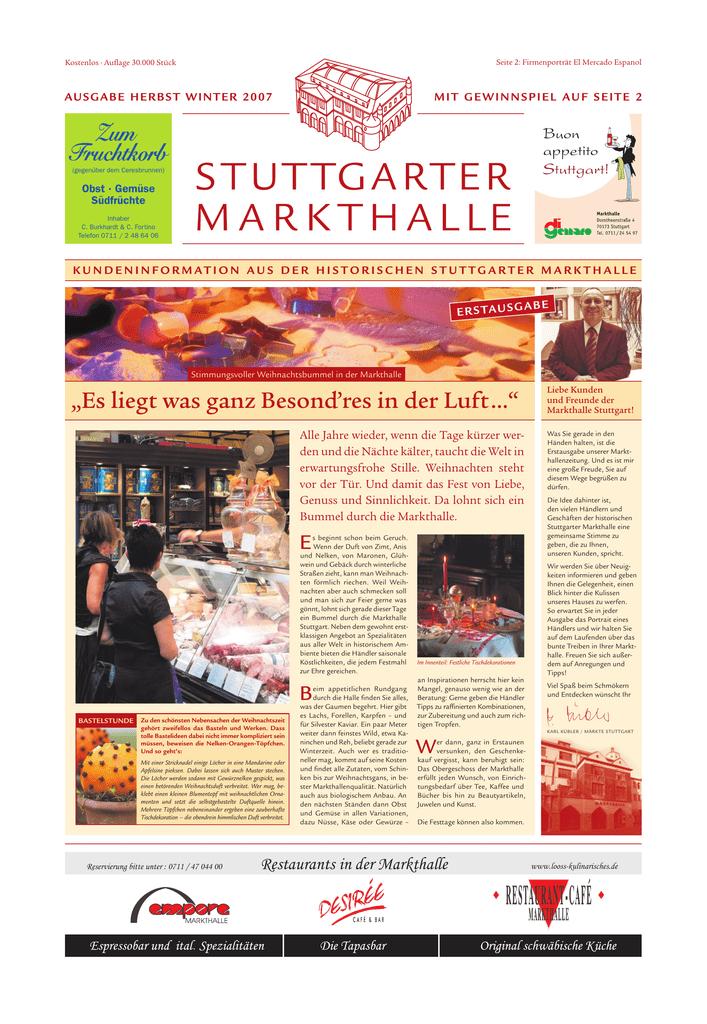 Markthallen Zeitung 1 Ausgabe Herbst Winter