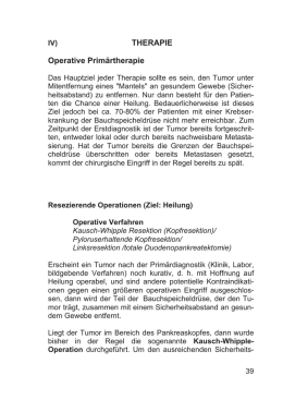 THERAPIE Operative Primärtherapie