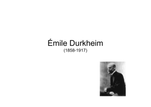Emile Durkheim - Phil.-So.