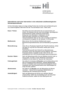 Informationen nach einer Intervention in der ambulanten