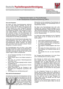 Patienteninformation zur Psychotherapie in der GKV