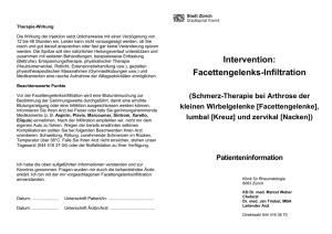 Intervention: Facettengelenks-Infiltration
