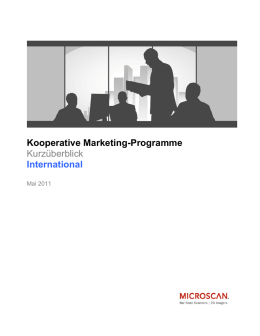 Kooperative Marketing-Programme Kurzüberblick