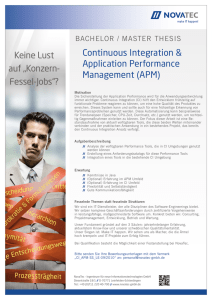 Continuous Integration & Application Performance Management