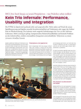 Kein Trio infernale: Performance, Usability und Integration