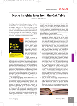 Oracle Insights: Tales from the Oak Table