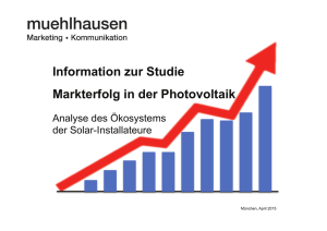 Informationen zur Studie Markterfolg in der Photovoltaik