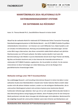 Relationale OLTP-Datenbankmanagement-Systeme