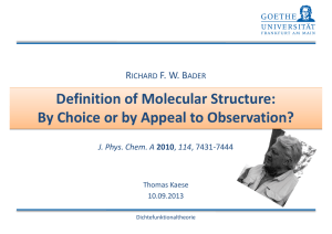 Definition of Molecular Structure: By Choice or by Appeal to