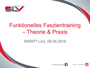 Funktionelles Faszientraining – Theorie & Praxis