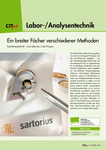 Labor-/Analysentechnik