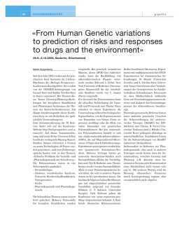 From Human Genetic variations to prediction of risks and responses