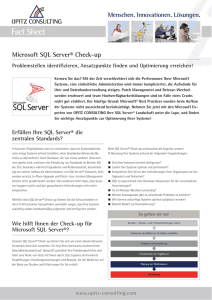 Microsoft SQL Server Check-up