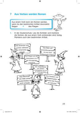 abgeleitete nomen und verben arbeitsblatt