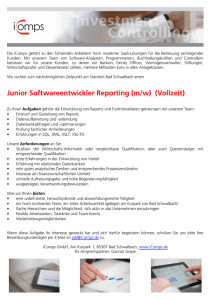 Junior Softwareentwickler Reporting (m/w) (Vollzeit)