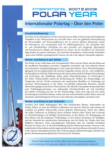 Internationaler Polartag – Über den Polen