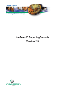 theGuard! ReportingConsole Version 2.5