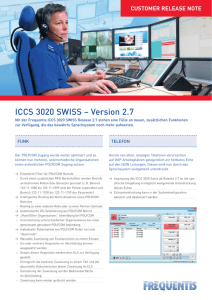 ICCS 3020 SWISS – Version 2.7