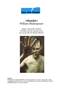Hamlet« William Shakespeare